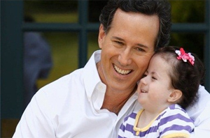 Rick Santorum and Daughter Trisonomy 18