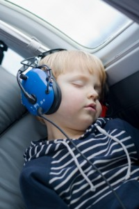 Headphones on plane