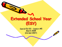 Extended School Year